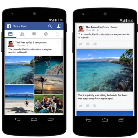 mobile photo improved photo posts on mobile newsfeed