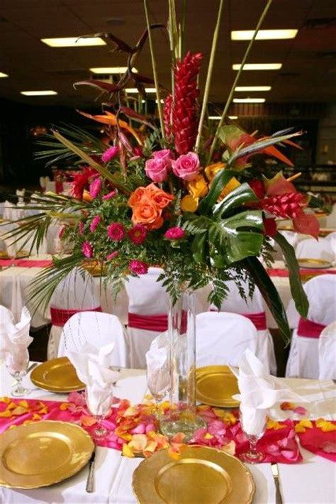 quinceanera themes hawaiian tropical centerpiece ideas welcome to bisli event