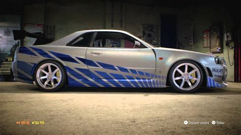 nissan skyline fast and furious paul walker need for speed 2015 nissan skyline paul walker 2 fast 2