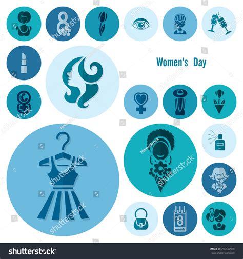 eight design elements design elements international womens day march stock
