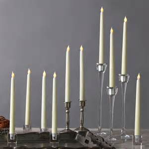 lights lit decor flameless candles taper candles