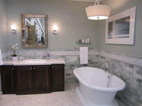 Blue Bathroom Color Schemes by Blue And Brown Bathroom Decor Paint Colors With Grey Tile