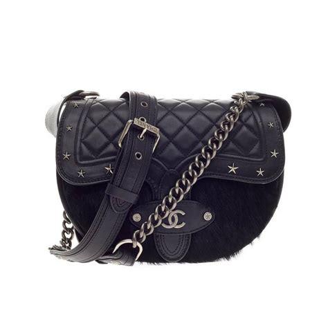 Tas Chanel Branded Bag Fashion Style Stud Studded Satchels Gaul Elegan chanel dallas studded saddle bag quilted calfskin and pony hair at 1stdibs