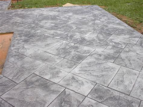Grey Patterned Concrete | dixie sted concrete inc patios