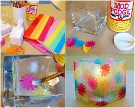 diy mod podge projects mod podge candle holder diy projects