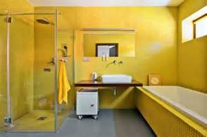 Ideas For Bathroom Colors wandfarbe gelb eine sonnige stimmung im badezimmer haben