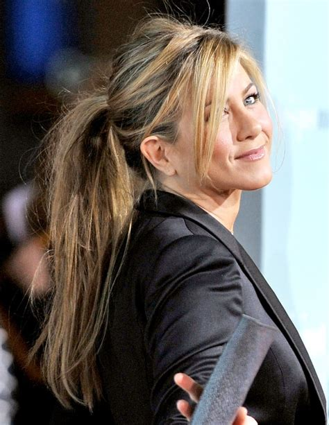 aniston hair extensions february 2009 aniston s hair evolution us weekly