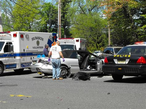 two car crash two car crash on rumson road red bank green