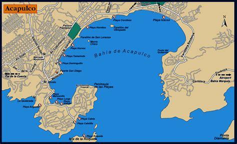 map of mexico acapulco maps of acapulco