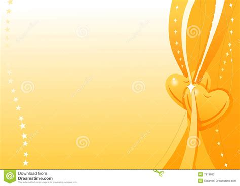 vector wallpaper with gold hearts stock photos image