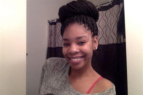 put braids in a bun high bun with box braids tutorial youtube