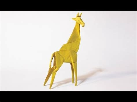 How To Make Paper Giraffe - how to make an origami giraffe