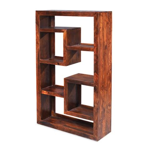 cuba sheesham geometric bookcase lifestyle furniture uk