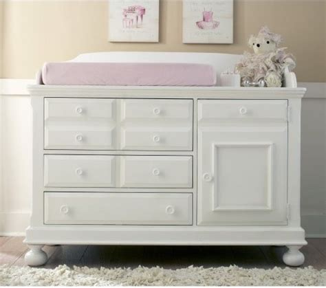Dressers And Changing Tables Creations Baby Summers Evening Combo Dresser In Rubbed White Traditional Changing Tables