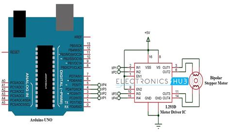code arduino control motor stepper motor control using arduino circuit code working