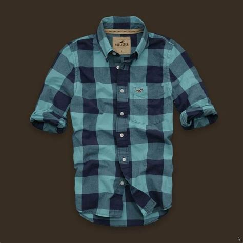 Hollister Checked Shirt hollister mens plaid shirts blue colby