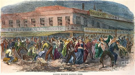 Nyc Home Decor new york draft riots 1863 photograph by granger