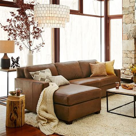 Henry Leather Sectional by Build Your Own Henry 174 Leather Sectional Pieces West Elm