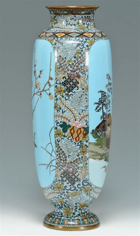 Large Cloisonne Vase by Lot 475 Large Meiji Cloisonne Vase