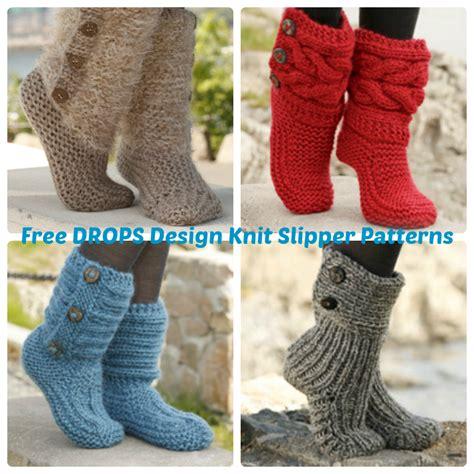 drops knitting patterns drops design free knit slipper patterns wee folk