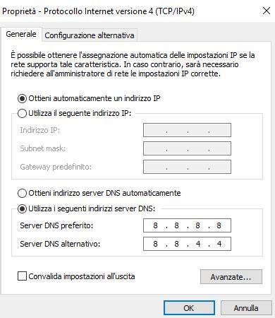 test connessione test connessione cosa fare quando non funziona