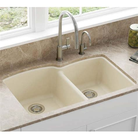 how to measure kitchen sink ellipse offset bowl undermount kitchen sink made of granite measuring 33 quot w x 21 3 4 quot d