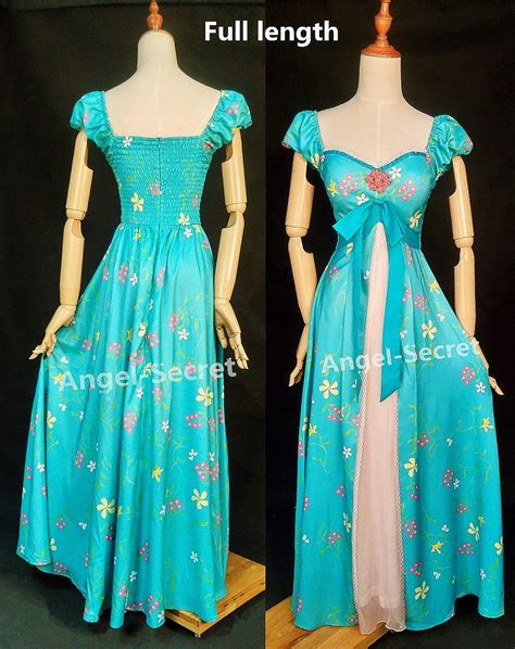 giselle curtain dress j230 women curtain dress giselle cosplay enchanted teal