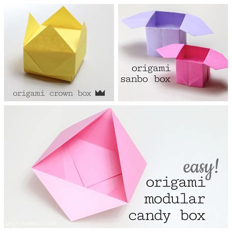 Simple Origami Box - origami step by step images images