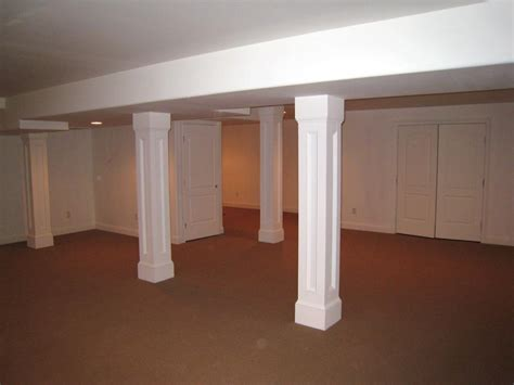 column covers basement rooms