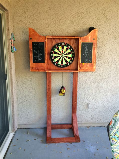 Outdoor Dart Cabinet by Timbo S Creations Dartboard Cabinet Stand
