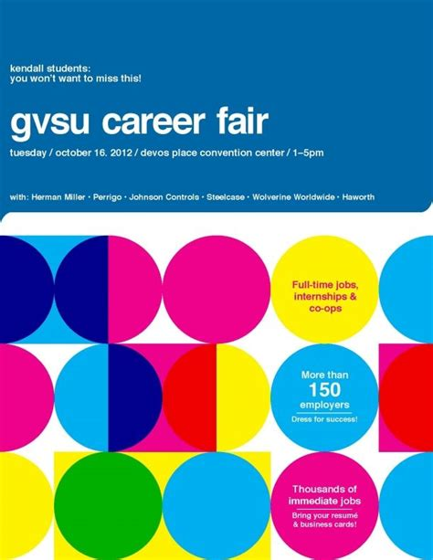 graphic design poster jobs gvsu career fair 2012 kendall college of art and design