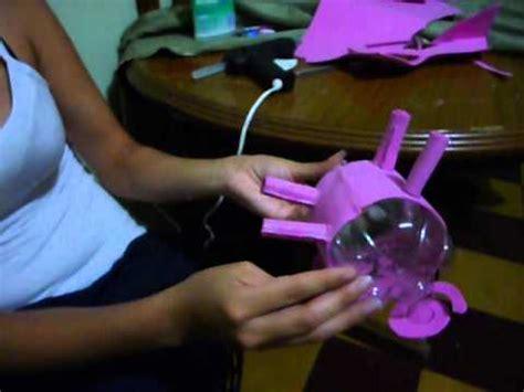 como hacer un cochinito de alcancia con botellas de alcancia de cerdito en botella reciclable youtube