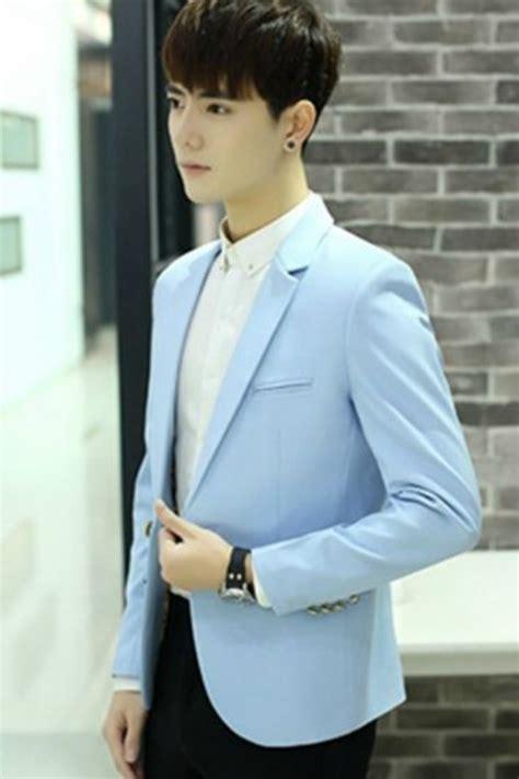Jas Blazer Pria Korea Jaket Pria Korea Skyblue Blazer Jyd385602skyblue