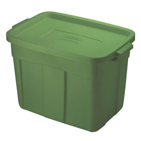 plastic storage totes rubbermaid 54 gal in x in x in