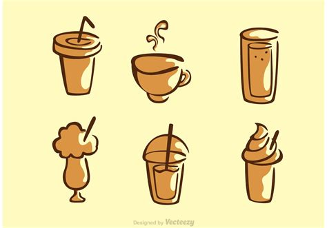 drink vector set of coffee drink vector download free vector art
