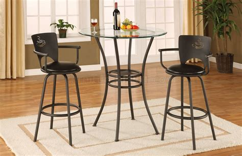 glass top counter height table metal base glass top contemporary counter height dinette table