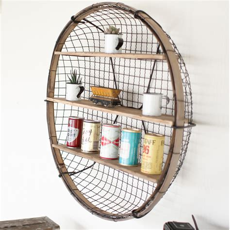 wall shelves with baskets kalalou wire basket wall shelf cmx2283
