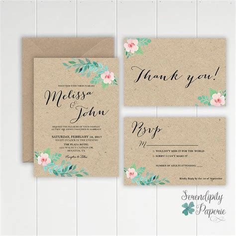 wedding invitations craft set rustic wedding invitation set printable craft wedding invitation rustic wedding stationery