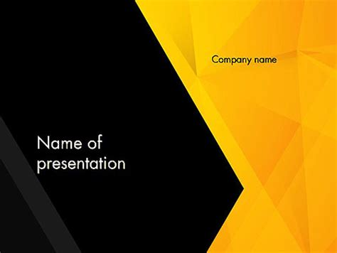 theme powerpoint yellow black and yellow shapes powerpoint template backgrounds