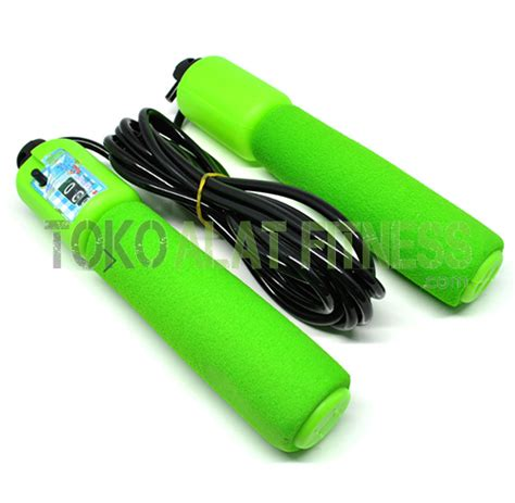 New Alat Fitness Jym Lompat Tali Tali Skipping Speed Rope Fitness skip soft with counter hijau toko alat fitness