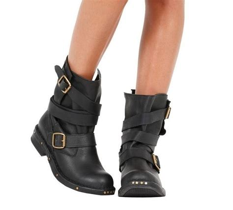 buy womens biker boots how to buy leather biker boots ebay