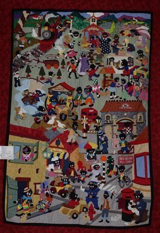 pattern for fabric golliwog gail waterhouses golliwog quilt quilts pinterest