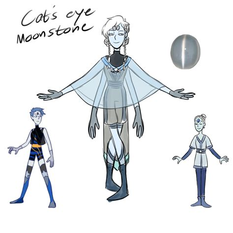 Moonstone Cat Eye Gemsona Fusions Cat S Eye Moonstone By Kattinx On Deviantart