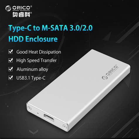 Orico Msata To Usb 3 0 Type C Ssd Enclosure Adapter Msa Uc3 Silve aliexpress buy orico type c gen1 to msata 3 0 hdd