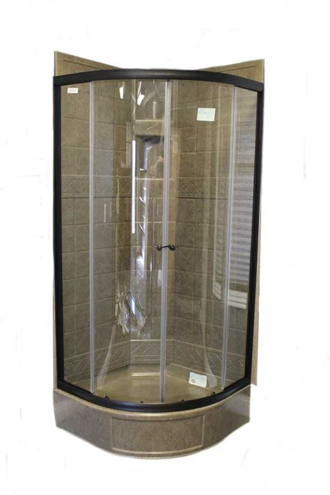 runde duschen 32 quot shower door with clear glass rubbed bronze