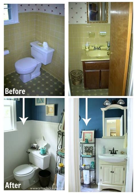 bathroom makeovers on a budget before and after guest bath makeover on a budget before after two