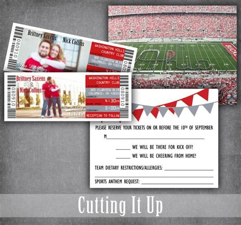 Sports Theme Wedding Invitations by Football Wedding Invitations Football Ticket Invitation