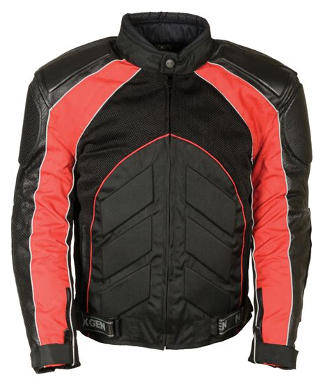 red and black motorcycle jacket men s armour motorcycle leather jacket