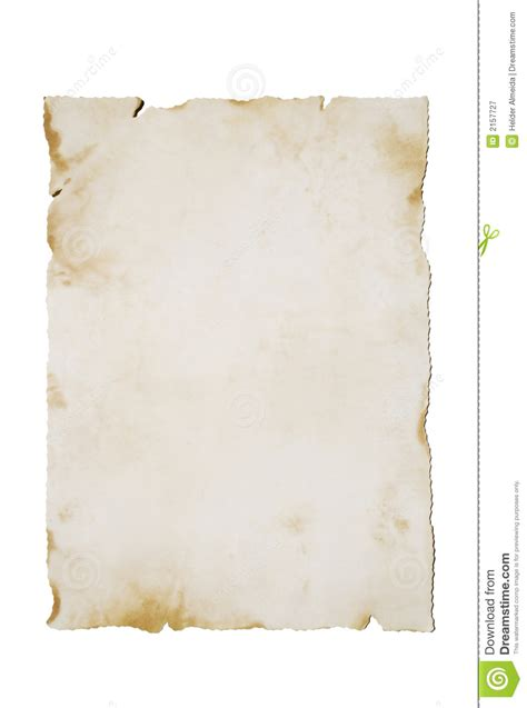 Old Paper On White (vertical) Royalty Free Stock Photography   Image: 2157727