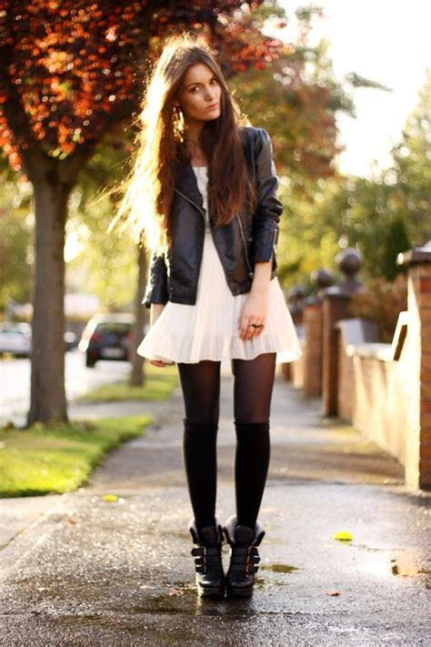 black white dress with tights best 25 tights and boots ideas on minifalda